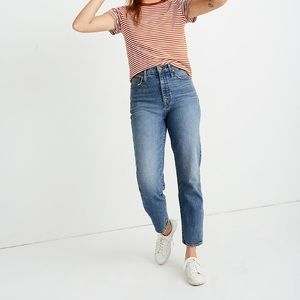Madewell Classic Straight Jeans in Perlata Wash